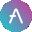 logo kryptowaluty Aave